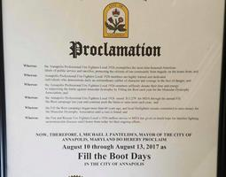 Fill The Boot Proclamation