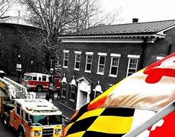 MD Flag and Firetruck
